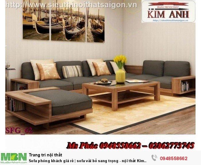 Sofa phòng khách giá rẻ | sofa vải bố sang trọng - nội thất Kim Anh sài gòn19
