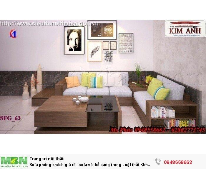 Sofa phòng khách giá rẻ | sofa vải bố sang trọng - nội thất Kim Anh sài gòn20