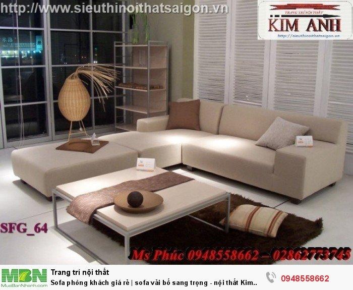 Sofa phòng khách giá rẻ | sofa vải bố sang trọng - nội thất Kim Anh sài gòn21