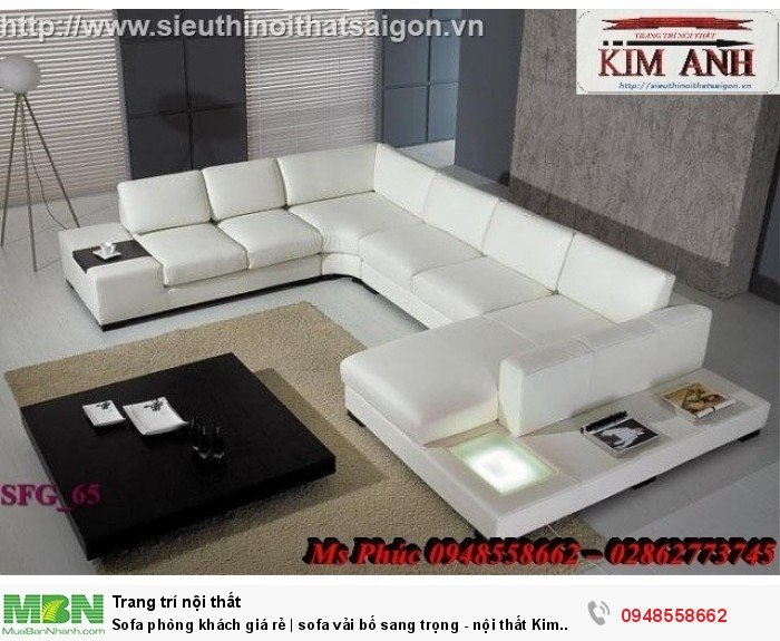 Sofa phòng khách giá rẻ | sofa vải bố sang trọng - nội thất Kim Anh sài gòn22