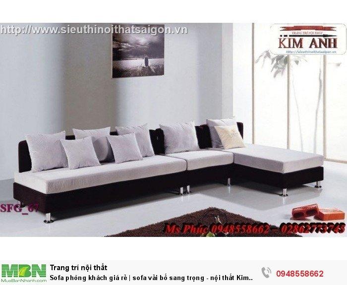 Sofa phòng khách giá rẻ | sofa vải bố sang trọng - nội thất Kim Anh sài gòn24