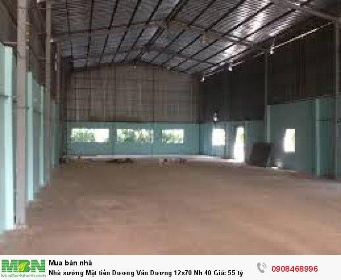Nhà xưởng Mặt tiền Dương Văn Dương 12x70 Nh 40