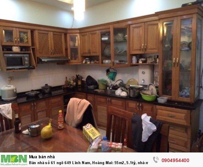 Bán nhà số 61 ngõ 649 Lĩnh Nam, Hoàng Mai 55m2, 5.1tỷ, nhà mới đẹp, Kinh doanh tốt.
