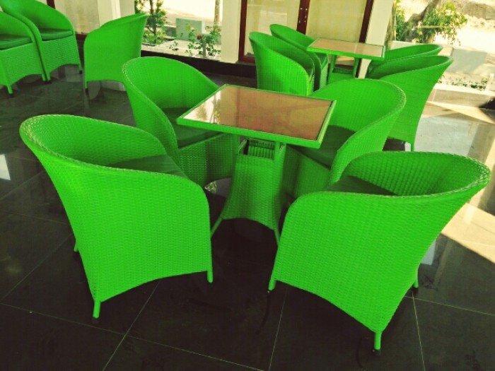 bàn ghế mây cafe ngoài trời thanh lý gấp 50 bộ như hình18