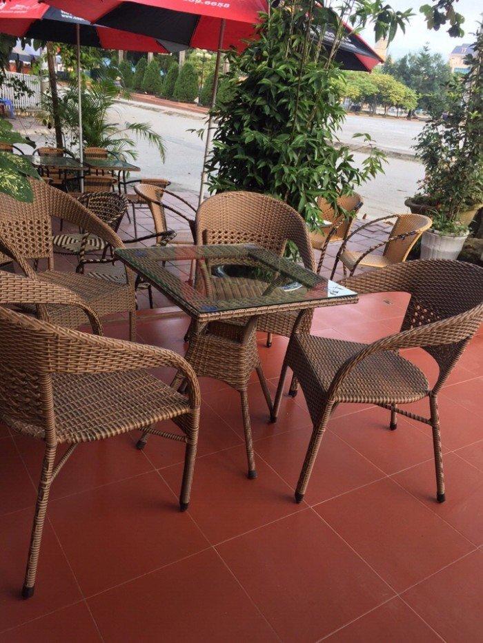 bàn ghế mây cafe ngoài trời thanh lý gấp 50 bộ như hình17