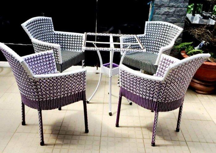 bàn ghế mây cafe ngoài trời thanh lý gấp 50 bộ như hình16