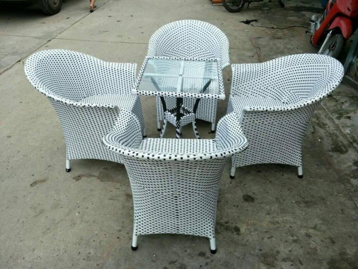 bàn ghế mây cafe ngoài trời thanh lý gấp 50 bộ như hình6