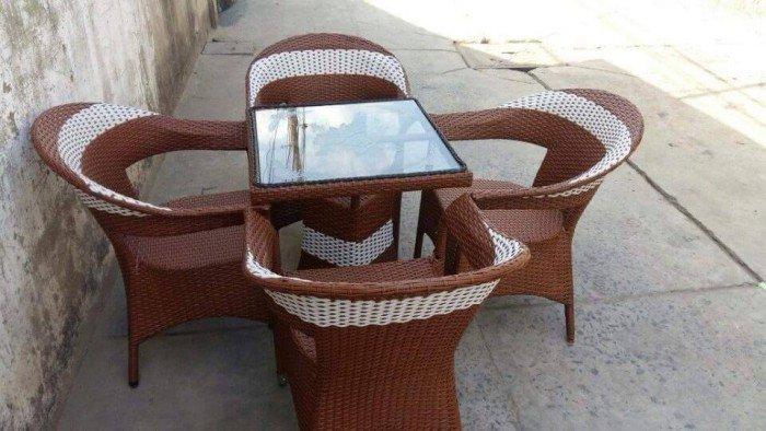 bàn ghế mây cafe ngoài trời thanh lý gấp 50 bộ như hình4