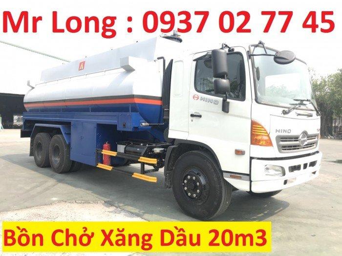 Xe HINO FL bồn chở xăng dầu 20 khối, HINO FL8JTSA chở xăng dầu , xe HINO chở xăng 20m3