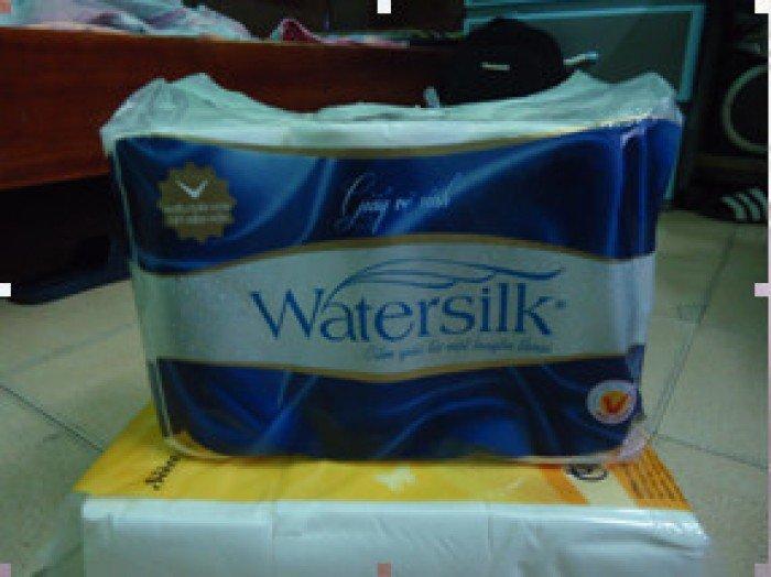 Giấy vệ sinh watersilk 12 cuộn có lỏi