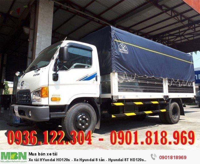 Xe tải HYundai HD120s - Xe Hyundai 8 tấn - Hyundai 8T HD120s thùng dài 6m3 giá tốt giao ngay