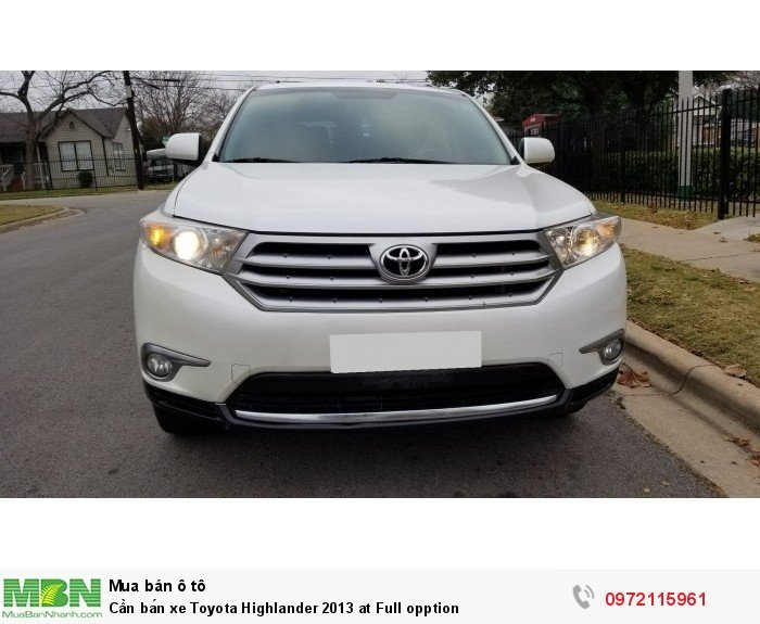 Cần bán xe Toyota Highlander 2013 at Full opption