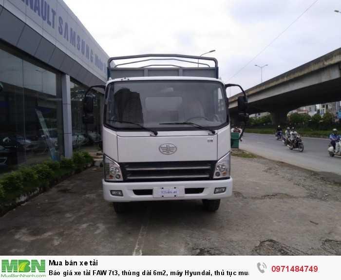 Xe Tải Faw GM 7 tấn 3 máy huyndai thùng bạt Hỗ trợ vay từ 60% - 90% theo nhu cầu của khách hàng.24 - 60 tháng