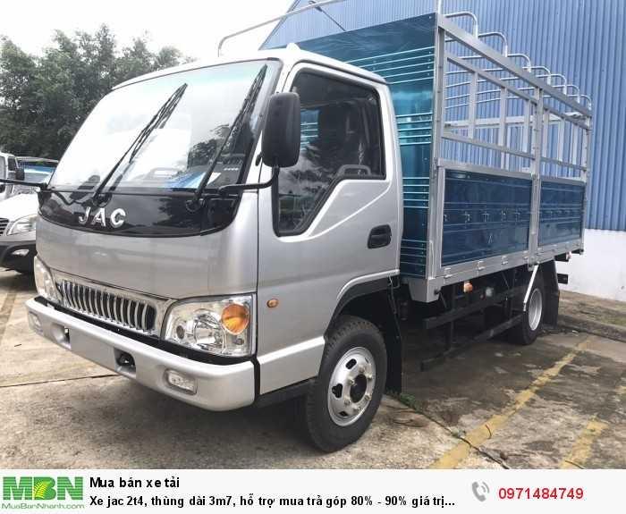 Xe jac 2t4, thùng dài 3m7, hỗ trợ mua trả góp 80% - 90% giá trị xe