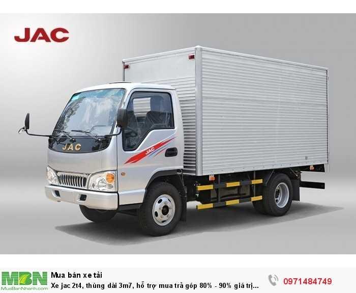 xe tải jac thùng kín chuyên dùng cho các sản phẩm điện tử vào thành phố,hoặc dòng sản phẩm hàng may mặt.