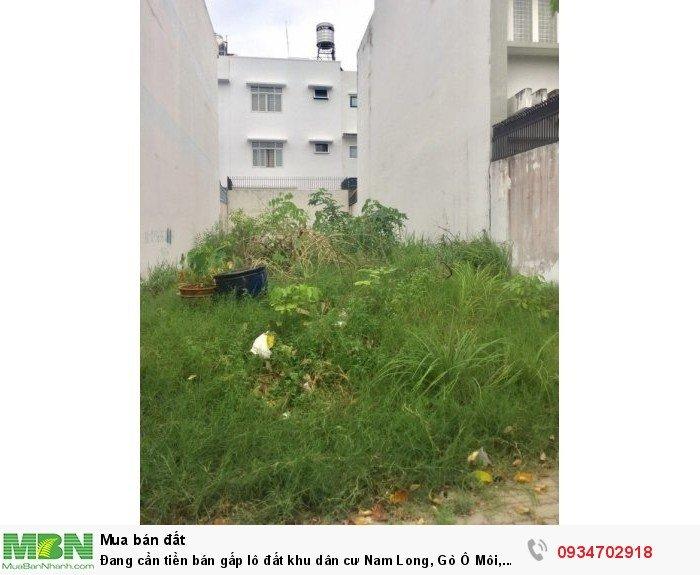 Đang cần tiền bán gấp lô đất khu dân cư Nam Long, Gò Ô Môi, phường Phú Thuận, quận 7