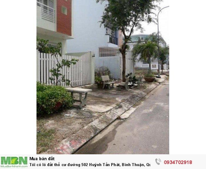 Tôi có lô đất thổ cư đường 502 Huỳnh Tấn Phát, Bình Thuận, Quận 7.