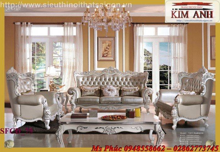 Sang trọng với mẫu sofa tân cổ điển nhập khẩu châu âu ms SFCĐ_8219