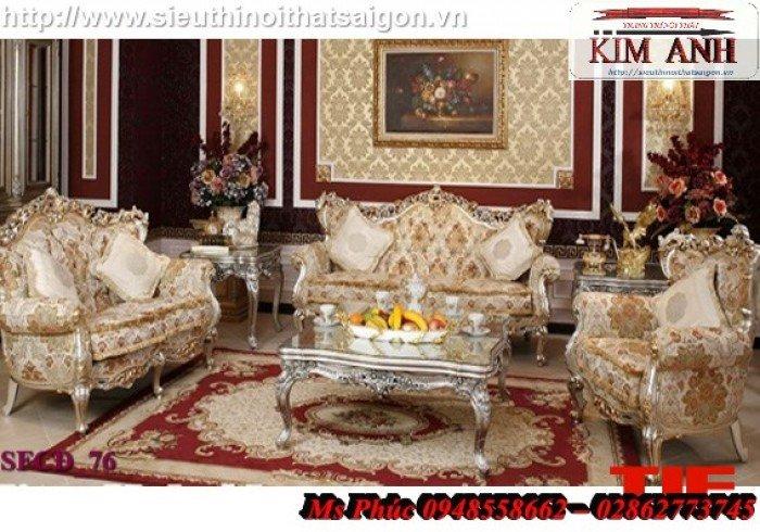 Sang trọng với mẫu sofa tân cổ điển nhập khẩu châu âu ms SFCĐ_8218