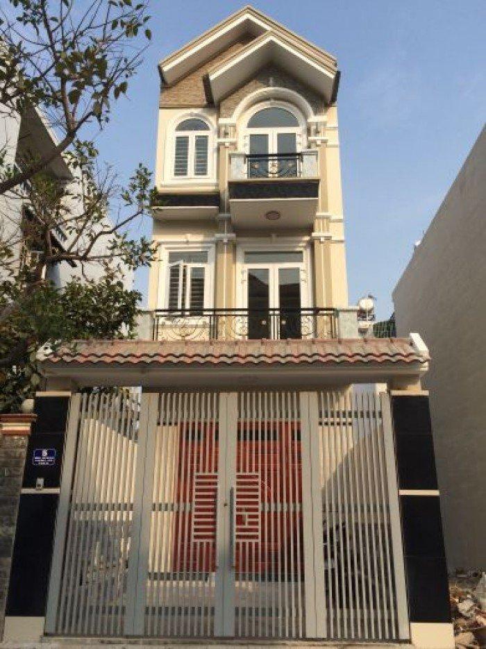 Nhà mới xây đường Nguyễn Văn Bứa, SHR, 1 Trệt 2 Lầu