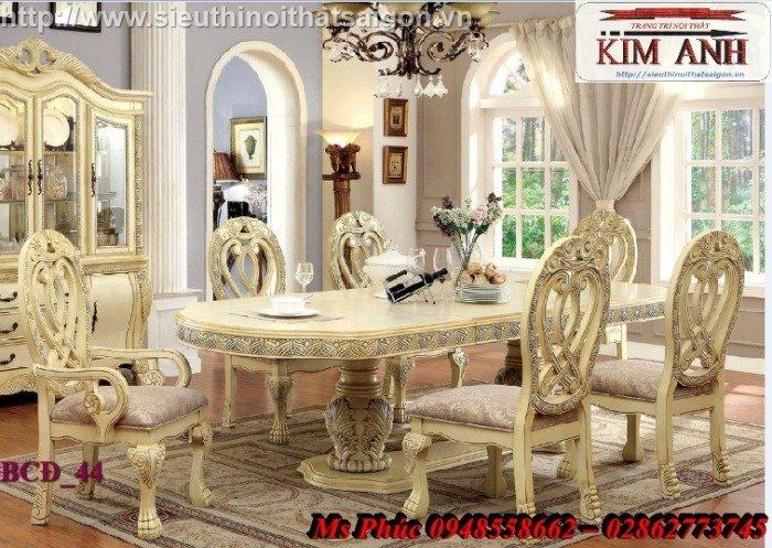 Bàn ăn tân cổ điển đẹp màu xanh ms BCĐ_129 giá rẻ - nội thất Kim Anh29