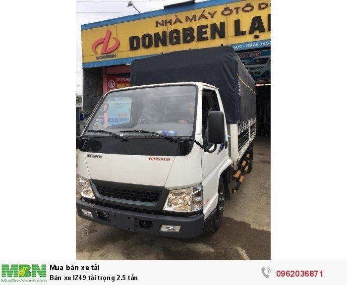 Bán xe IZ49 tải trọng 2.5 tấn 5