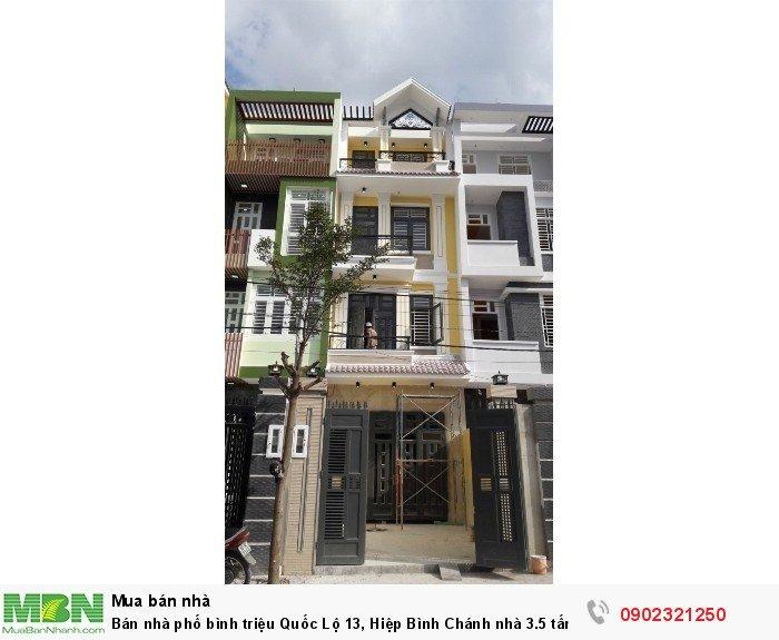 Bán nhà phố bình triệu Quốc Lộ 13, Hiệp Bình Chánh nhà 3.5 tấm 60m2 giá 4 tỷ