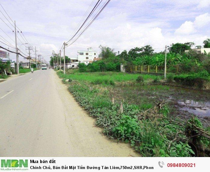 Chính Chủ, Bán Đất Mặt Tiền Đường Tân Liêm,750m2, SHR, Phong Phú.