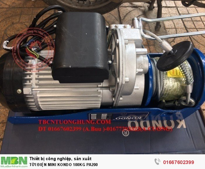 Tời Điện Mini Kondo 100kg Pa200