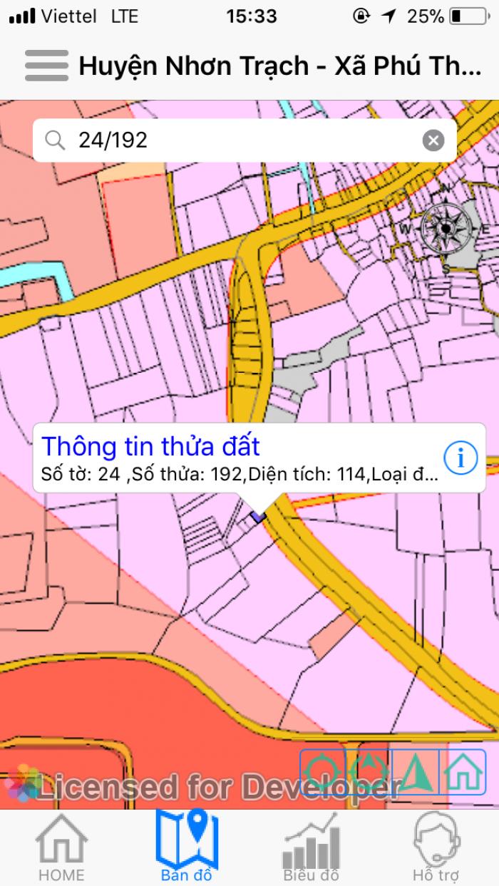 Bán đất mặt tiền quách thị trang DT 267m2 ,N11,D24 có 153 m2 thổ cư