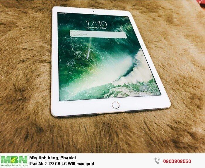 IPad Air 2 128GB 4G Wifi màu gold4