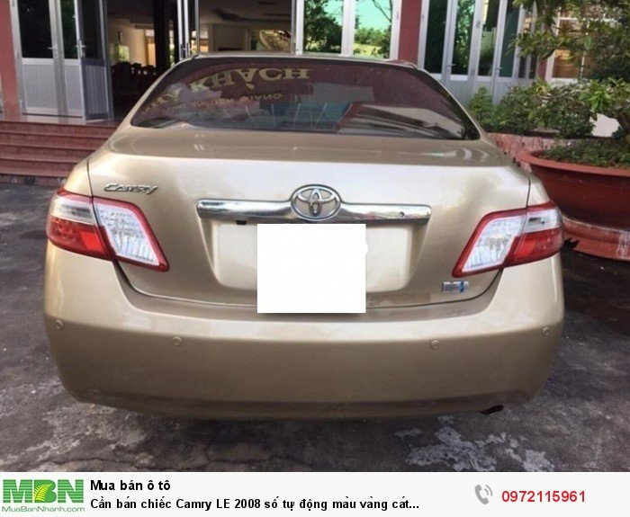Cần bán chiếc Camry LE 2008 số tự động màu vàng cát nhập Mỹ 2