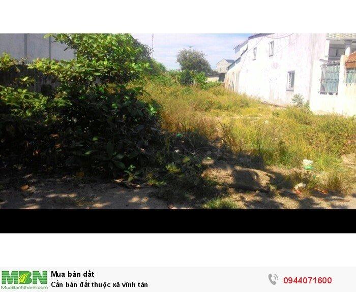 Cần bán đất thuộc xã Vĩnh Tân