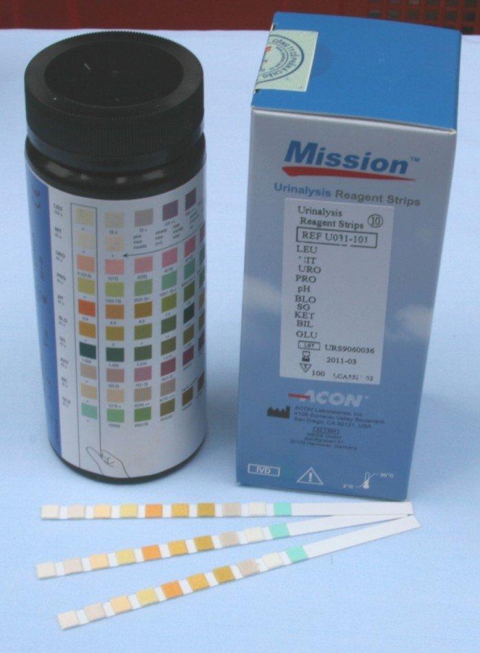 Que thử nước tiểu 11 thông số Mission Acon0