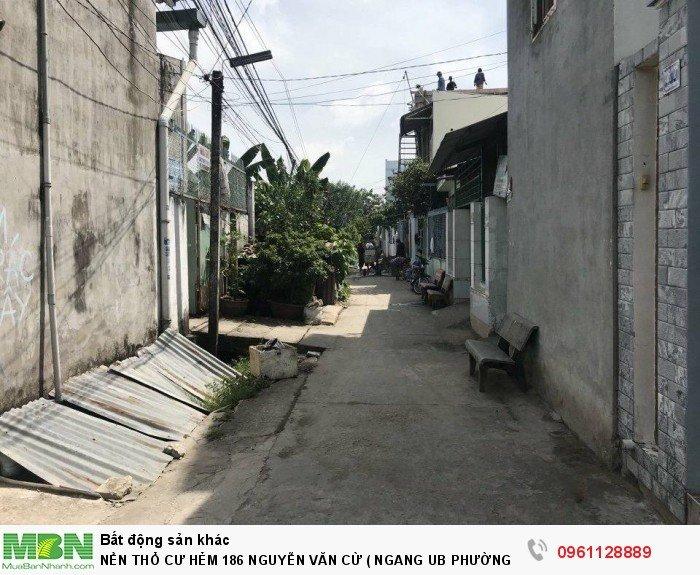 Nền Thổ Cư Hẻm 186 Nguyễn Văn Cừ ( Ngang Ub Phường An Hoà )