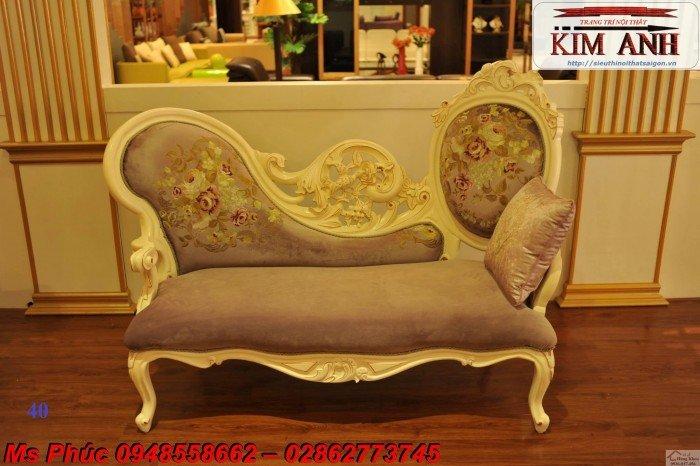 Ghế lười nằm thư giãn màu trắng ms 38 chạm khắc cnc tinh xảo - nội thất Kim Anh28