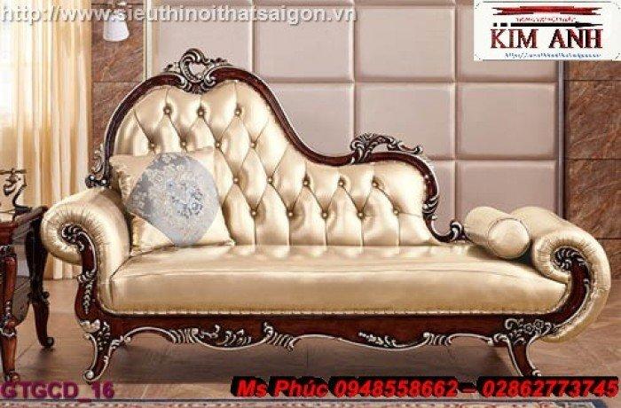 Ghế lười nằm thư giãn màu trắng ms 38 chạm khắc cnc tinh xảo - nội thất Kim Anh18