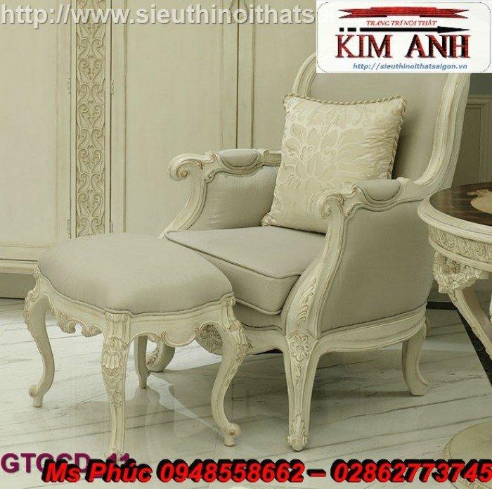 Ghế lười nằm thư giãn màu trắng ms 38 chạm khắc cnc tinh xảo - nội thất Kim Anh4