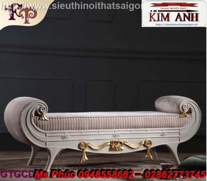 Ghế lười nằm thư giãn màu trắng ms 38 chạm khắc cnc tinh xảo - nội thất Kim Anh9