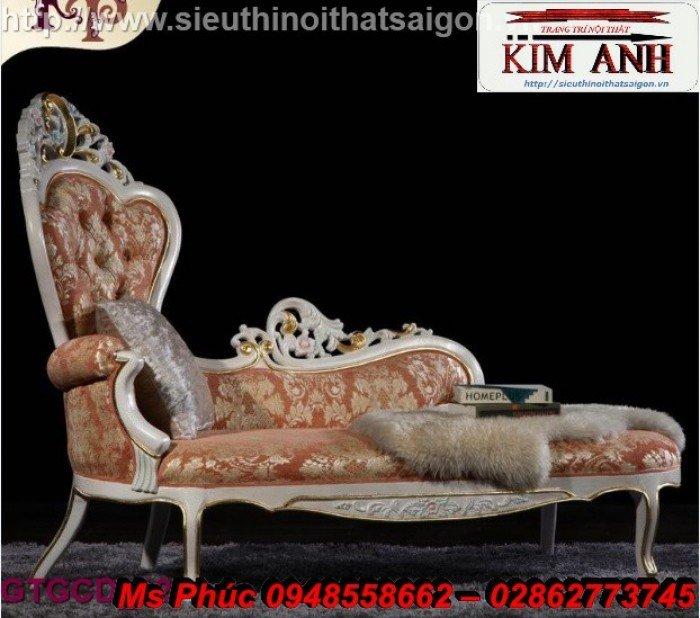 Ghế lười nằm thư giãn màu trắng ms 38 chạm khắc cnc tinh xảo - nội thất Kim Anh7