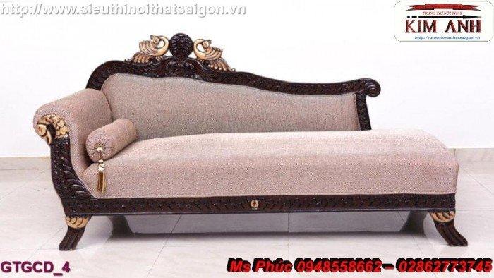 Ghế lười nằm thư giãn màu trắng ms 38 chạm khắc cnc tinh xảo - nội thất Kim Anh22