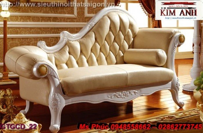 Ghế lười nằm thư giãn màu trắng ms 38 chạm khắc cnc tinh xảo - nội thất Kim Anh17