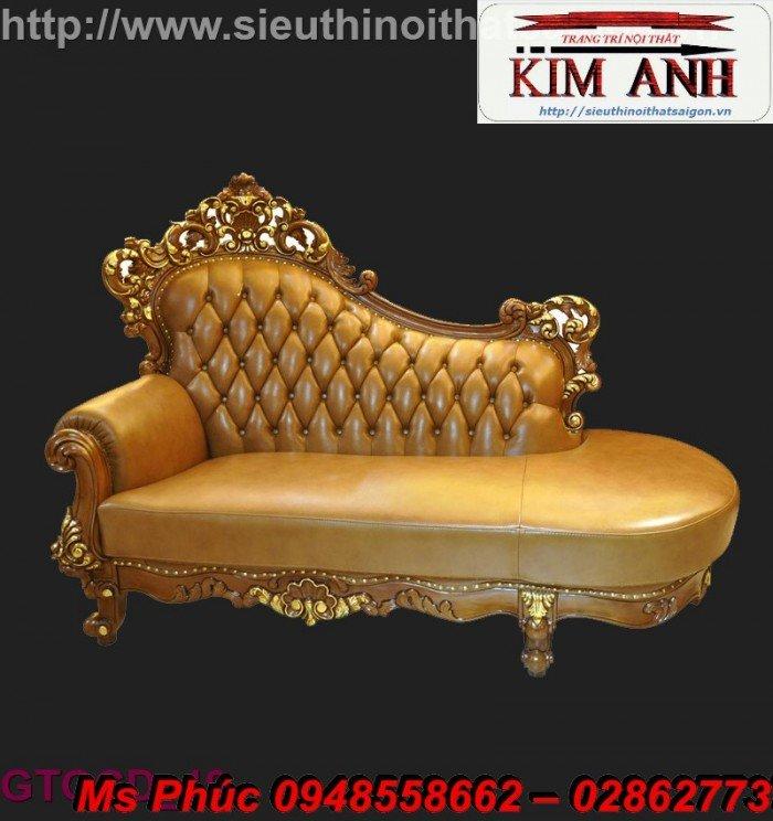 Ghế lười nằm thư giãn màu trắng ms 38 chạm khắc cnc tinh xảo - nội thất Kim Anh1