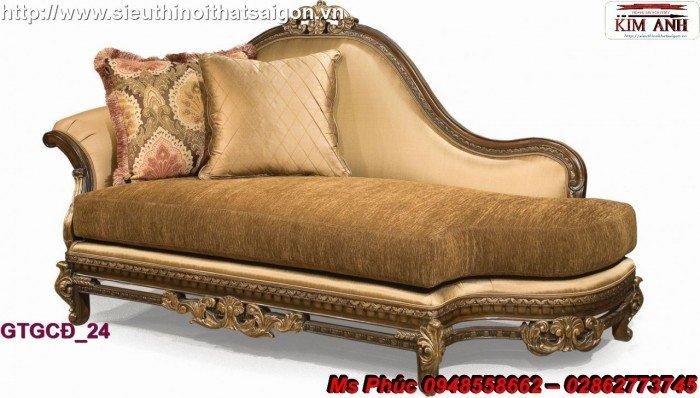 Ghế lười nằm thư giãn màu trắng ms 38 chạm khắc cnc tinh xảo - nội thất Kim Anh21