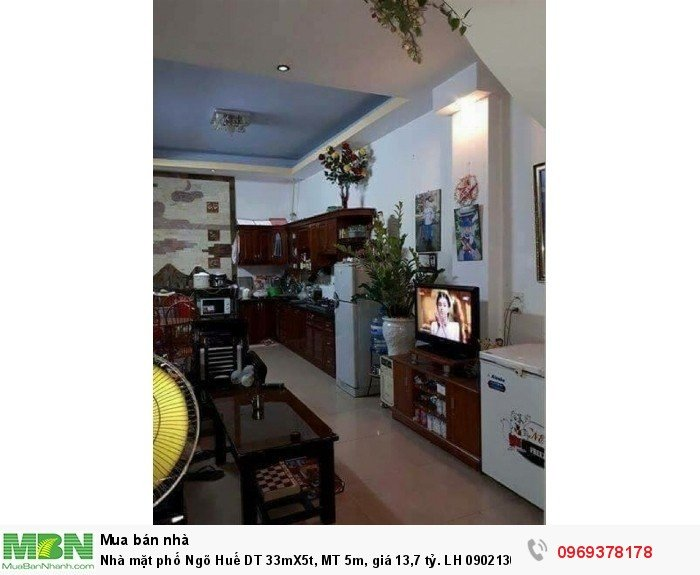 Nhà mặt phố Ngõ Huế DT 33mX5t, MT 5m