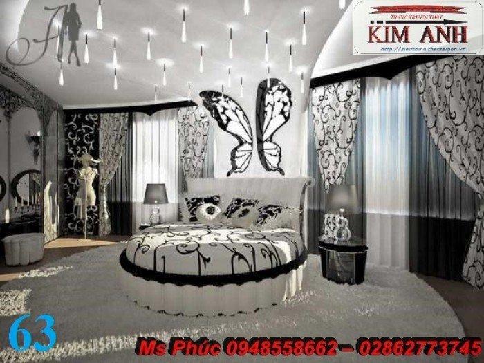 Giường tròn, giường HongKong màu tím ms 70 giá rẻ tại tphcm - nội thất Kim Anh sài gòn22