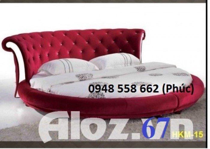 Giường tròn, giường HongKong màu tím ms 70 giá rẻ tại tphcm - nội thất Kim Anh sài gòn30