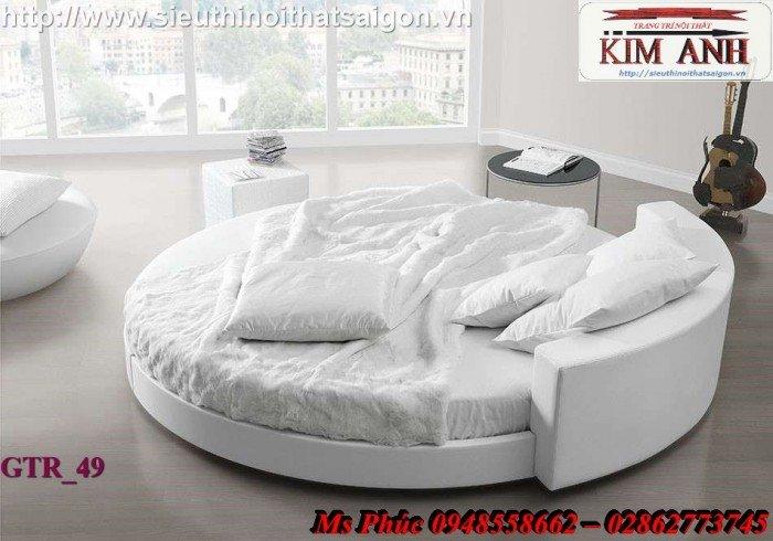 Giường tròn, giường HongKong màu tím ms 70 giá rẻ tại tphcm - nội thất Kim Anh sài gòn23