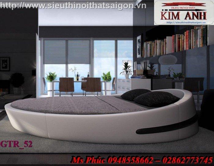 Giường tròn, giường HongKong màu tím ms 70 giá rẻ tại tphcm - nội thất Kim Anh sài gòn21