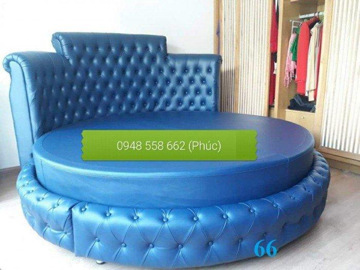 Giường tròn, giường HongKong màu tím ms 70 giá rẻ tại tphcm - nội thất Kim Anh sài gòn24